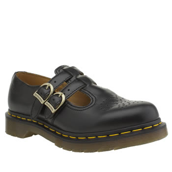 Dr Martens Black Mary Jane Flats