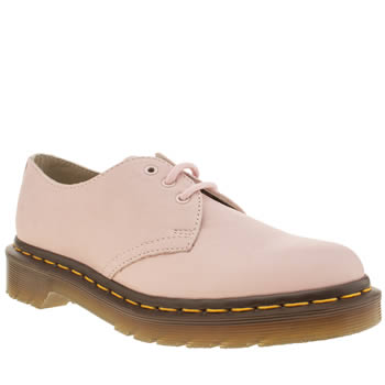 Womens Dr Martens Pale Pink 1461 3-eye Shoe Flats