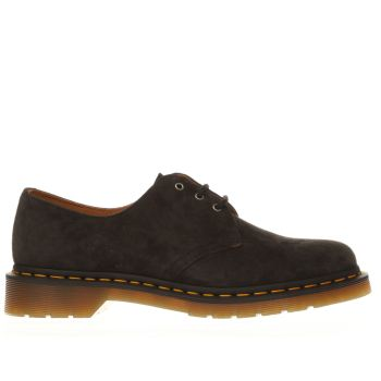 Dr Martens Dark Grey Dm 1461 3 Eye Flats