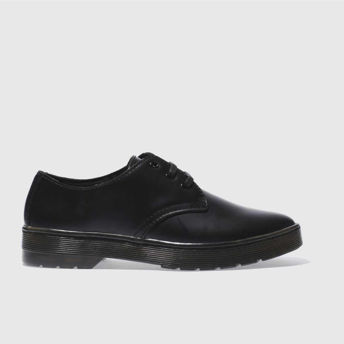 dr martens black cruise gizelle 3 eye flat shoes