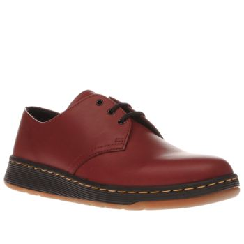 Dr Martens Red Cavendish 3 Eye Womens Flats