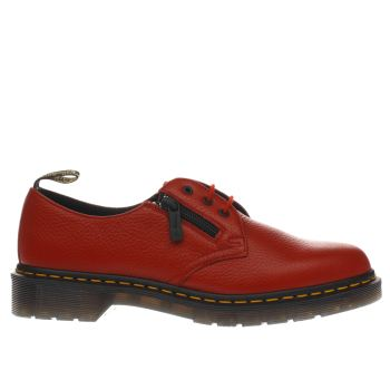 Dr Martens Red Zip 1461 3 Eye Aunt Sally Flats