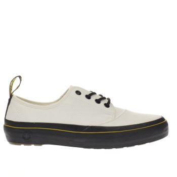Dr Martens White & Black Jacy 4 Eye Lace Flats