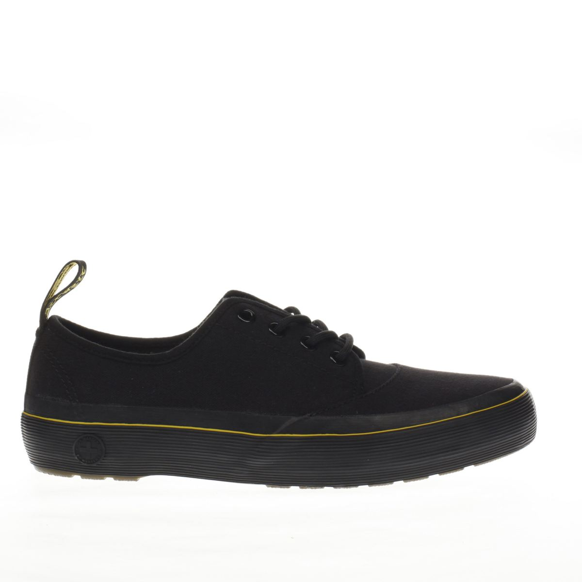 dr martens black jacy 4 eye lace flat shoes