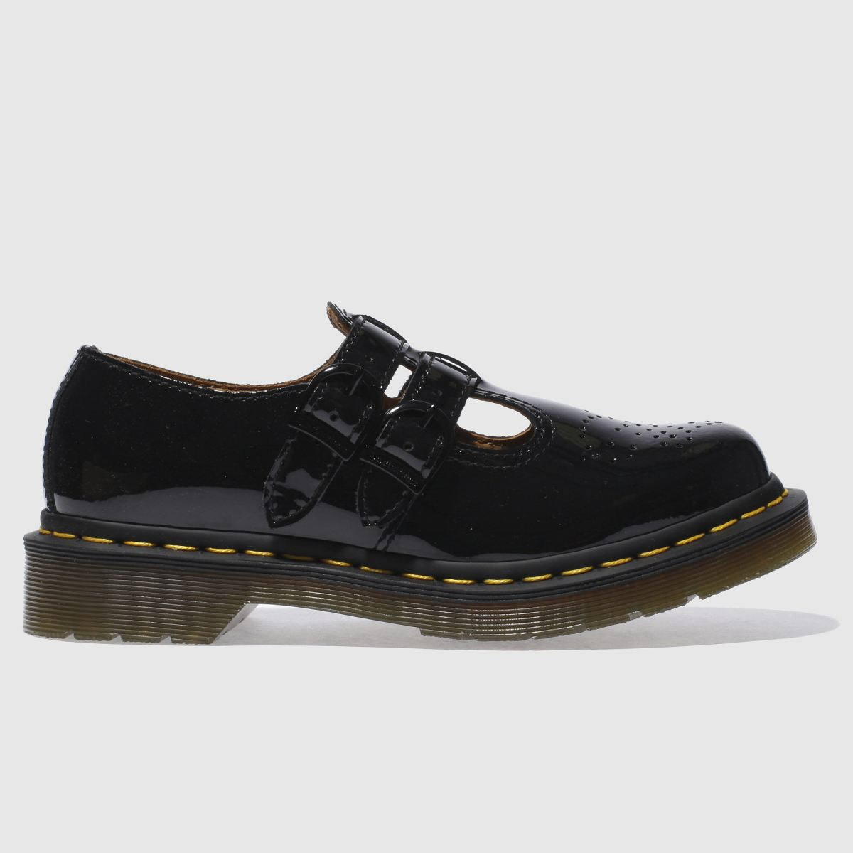 dr martens black 8065 mary jane flat shoes