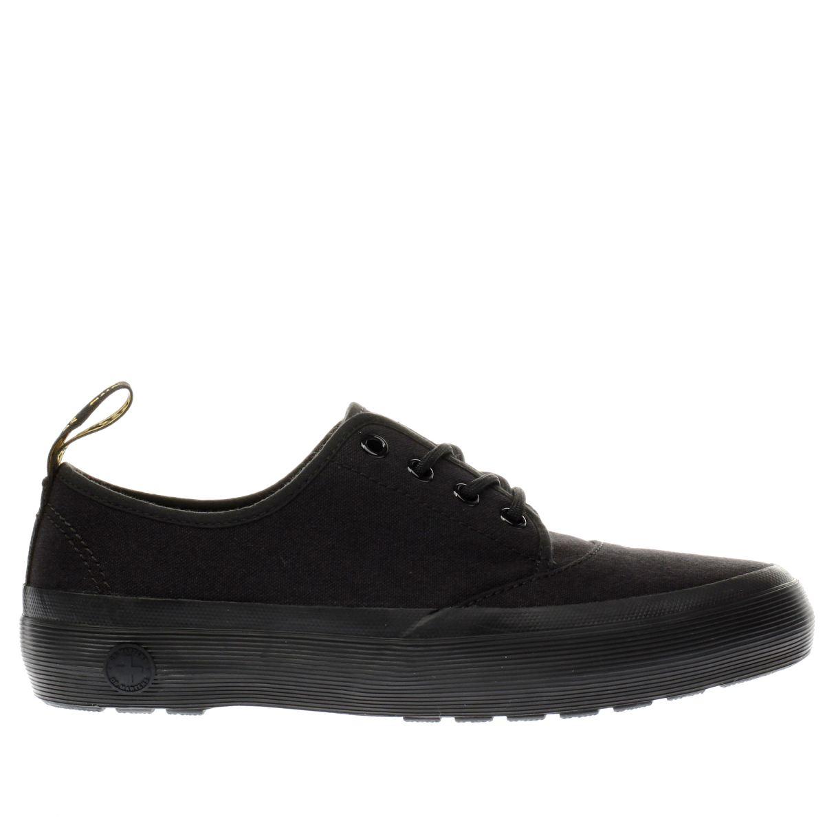dr martens black jacy 4 eye flat shoes