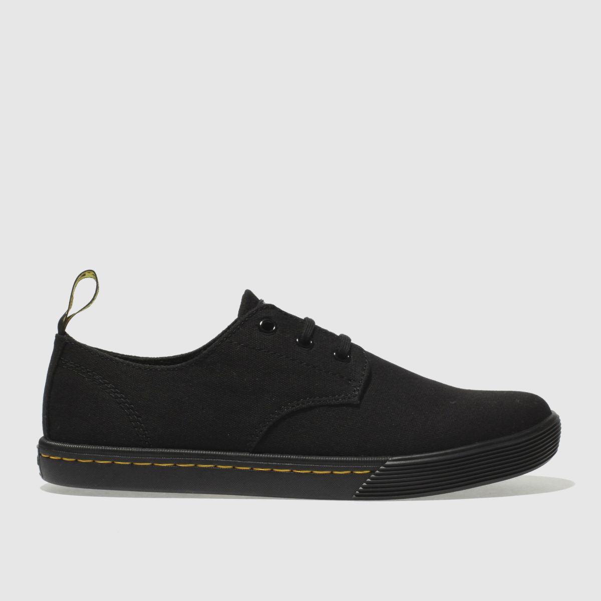 Dr Martens Black Octavo 3 Eye Shoe Santanita Flat Shoes