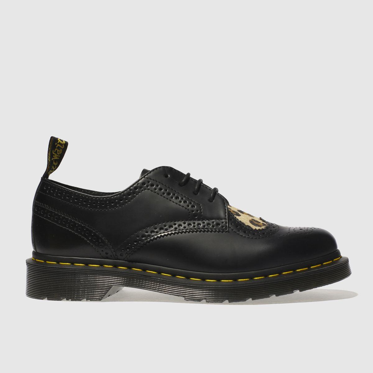Dr Martens Black & Brown Joyce Heart Flat Shoes