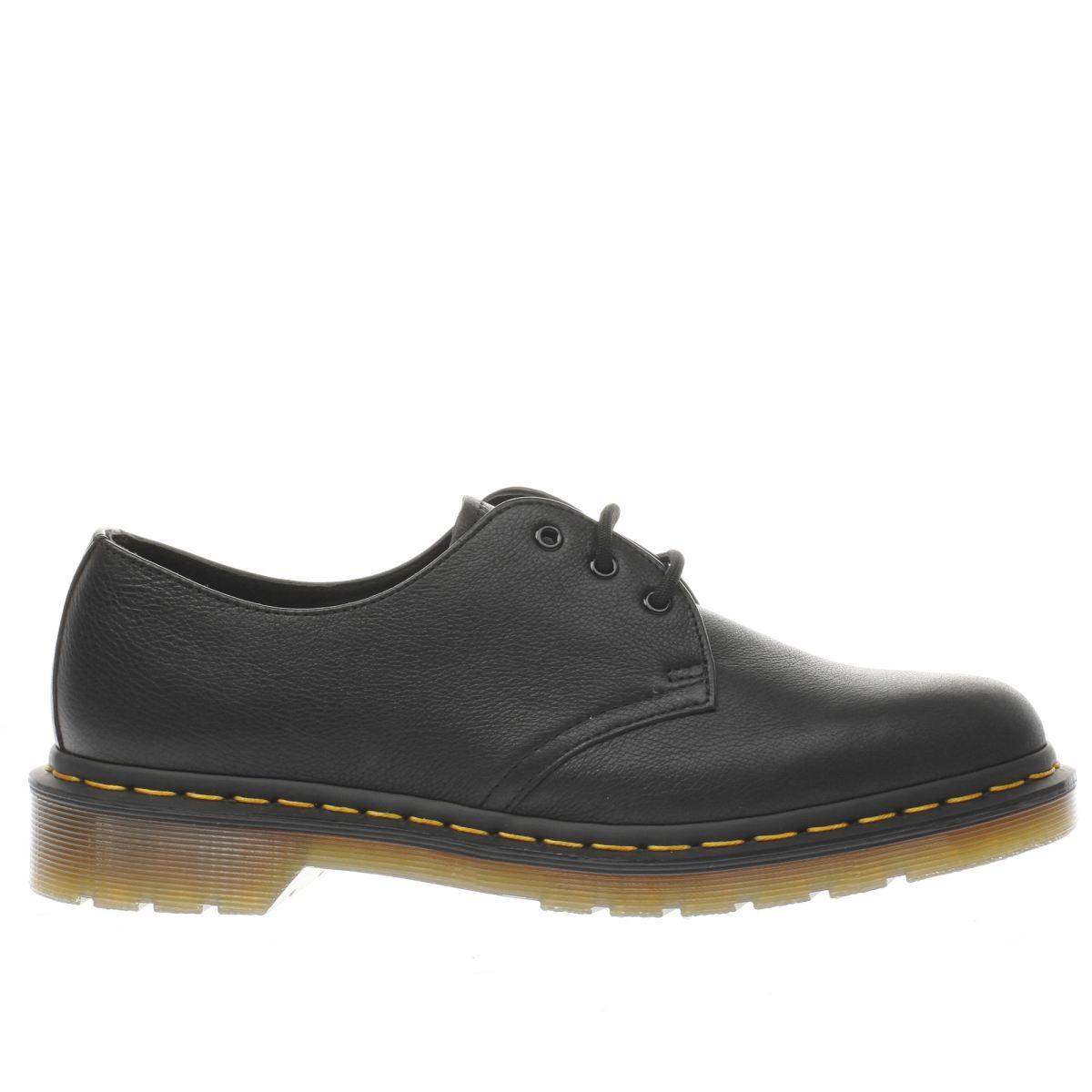 dr martens black 1461 3 eye shoe flat shoes