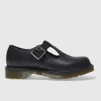 Dr Martens Black Polley T-Bar Womens Flats