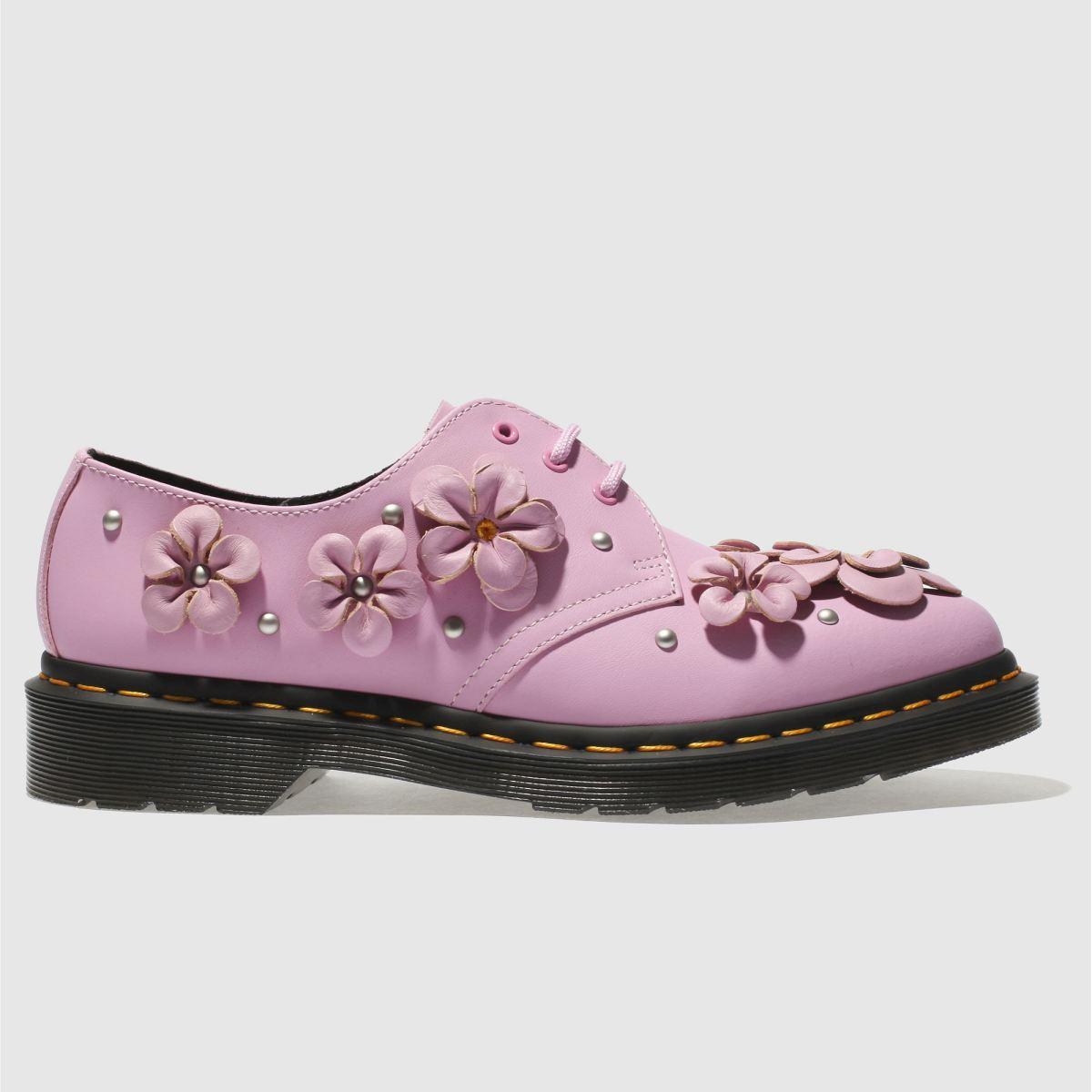 Dr Martens Pale Pink 1461 Flower Flat Shoes