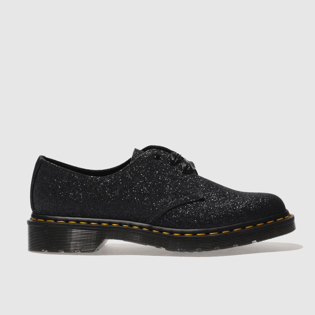 Dr Martens Black 1461 Glitter 3 Eye Flat Shoes