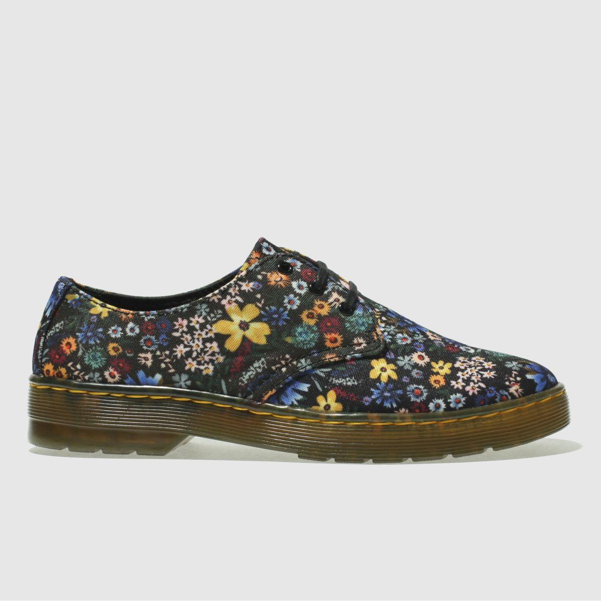 Dr Martens Black & Pink Cruise Gizelle Wanderlust Flat Shoes