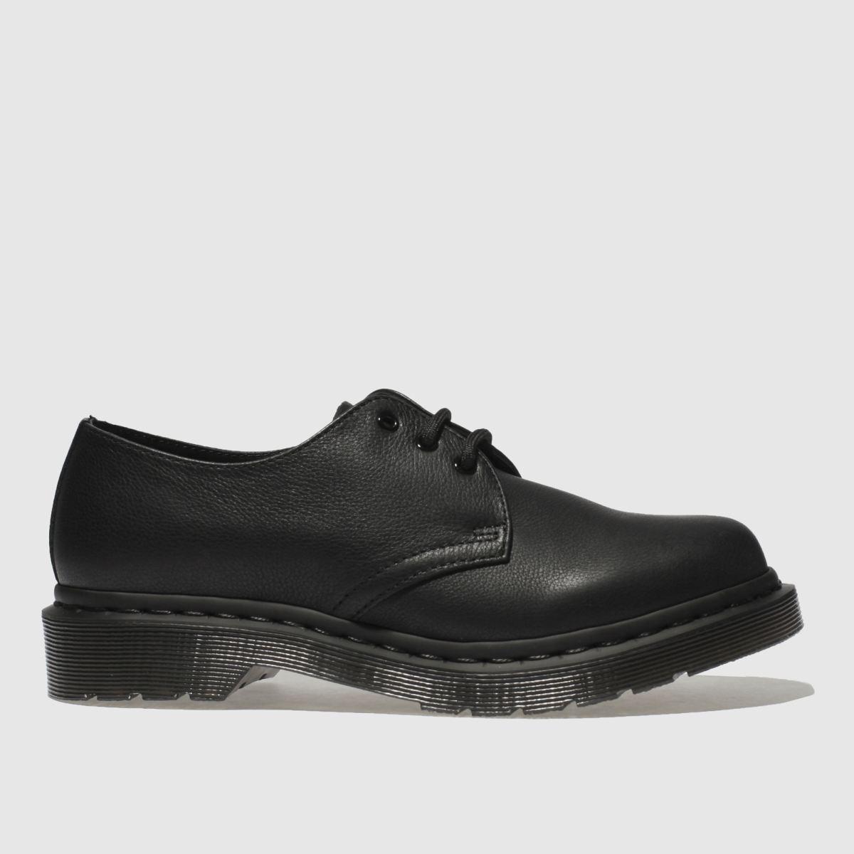Dr Martens Black 1461 3 Eye Flat Shoes
