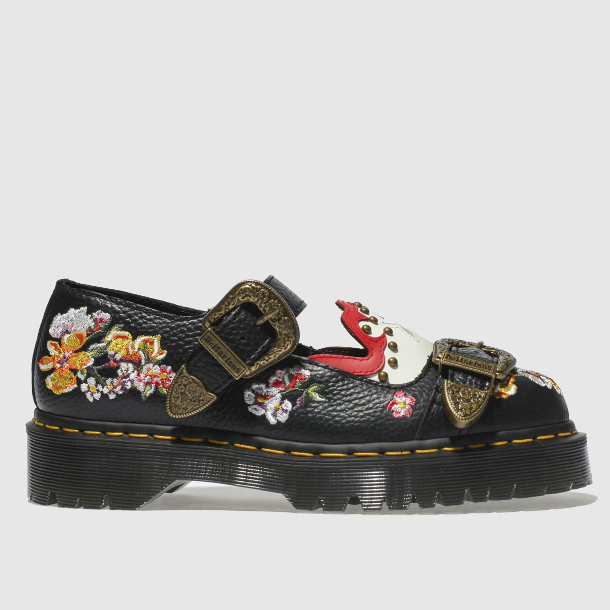 Dr Martens Black Mukai Flat Shoes