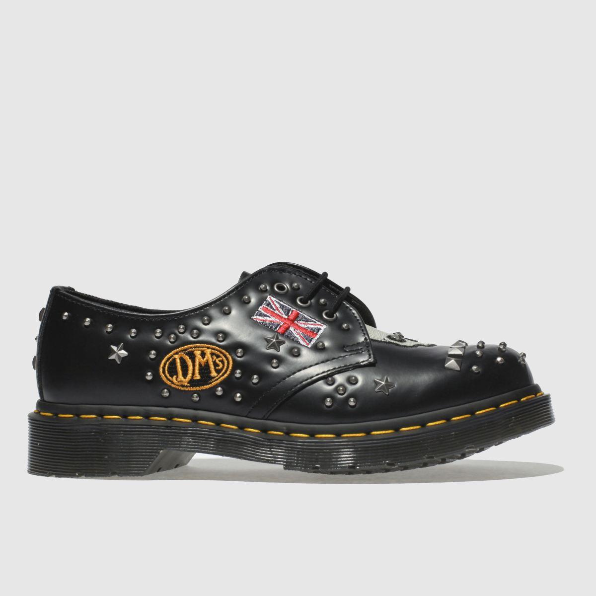 Dr Martens Black & Silver 1461 Rockabilly Flat Shoes