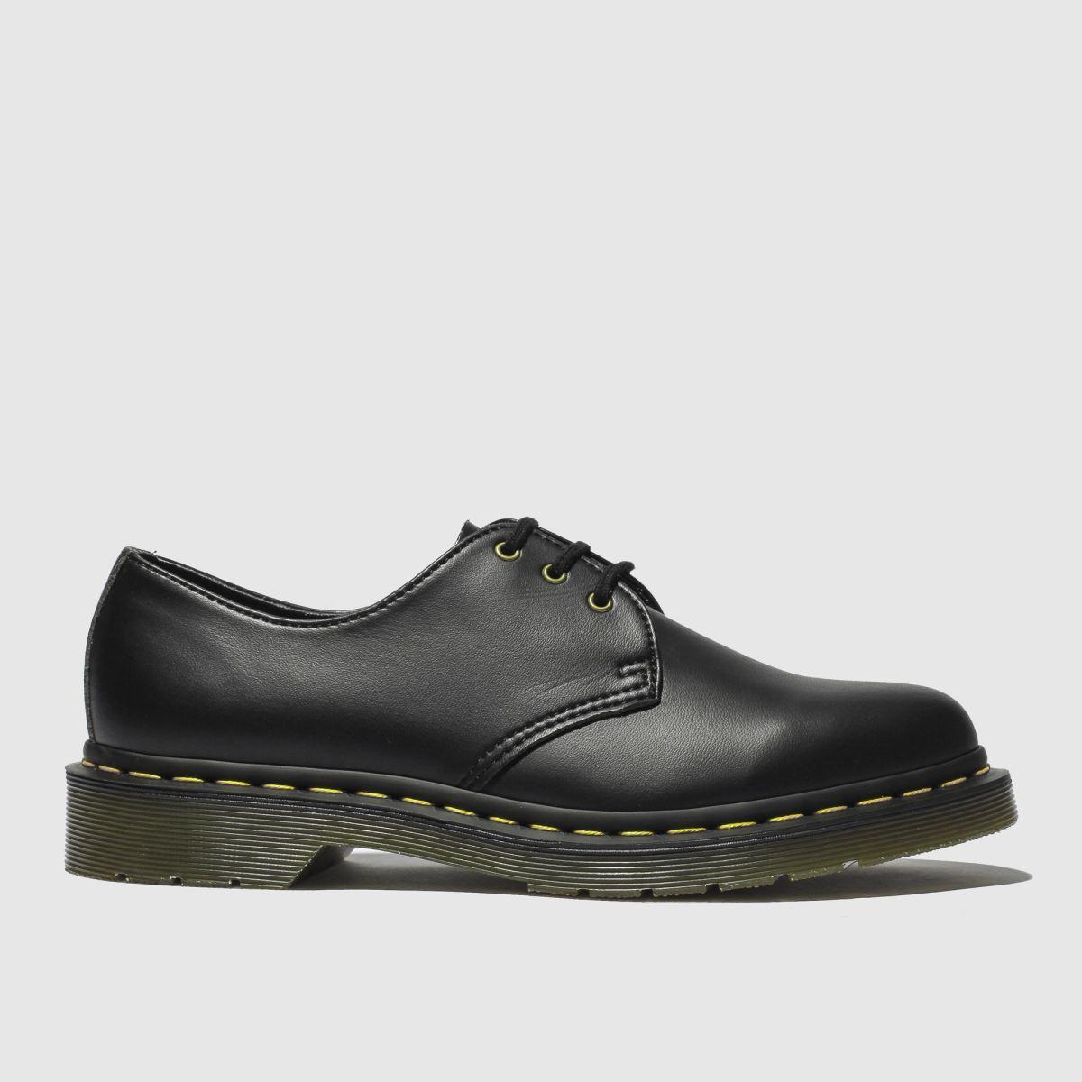 Dr Martens Black 1461 Vegan Felix Rub Off Flat Shoes