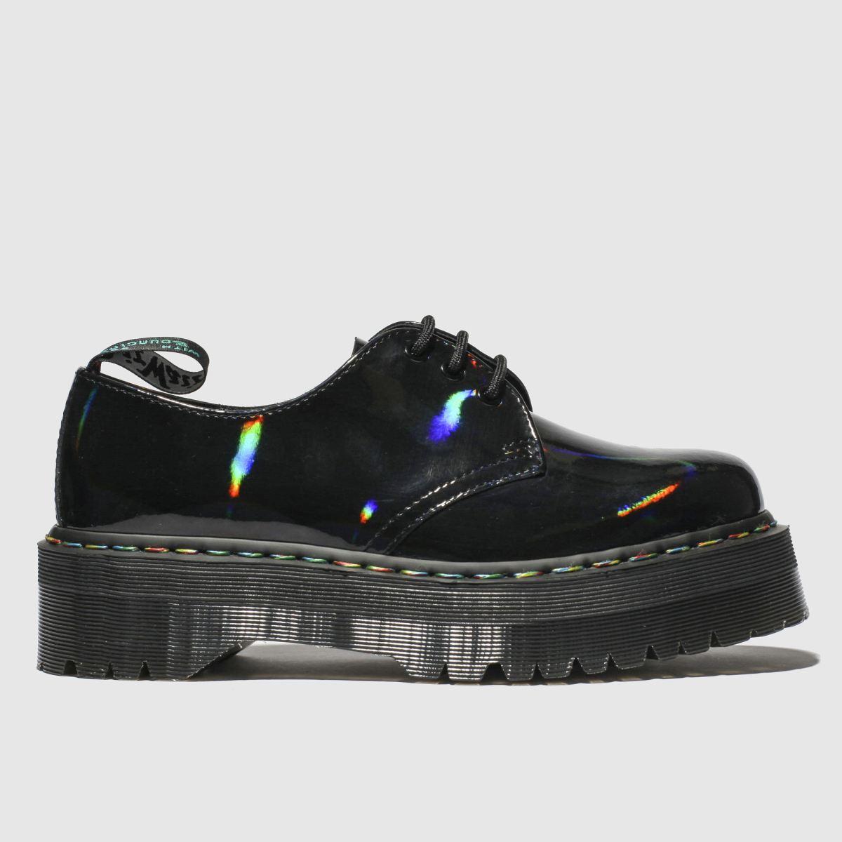 Dr Martens Black 1461 Molly Rainbow Flat Shoes