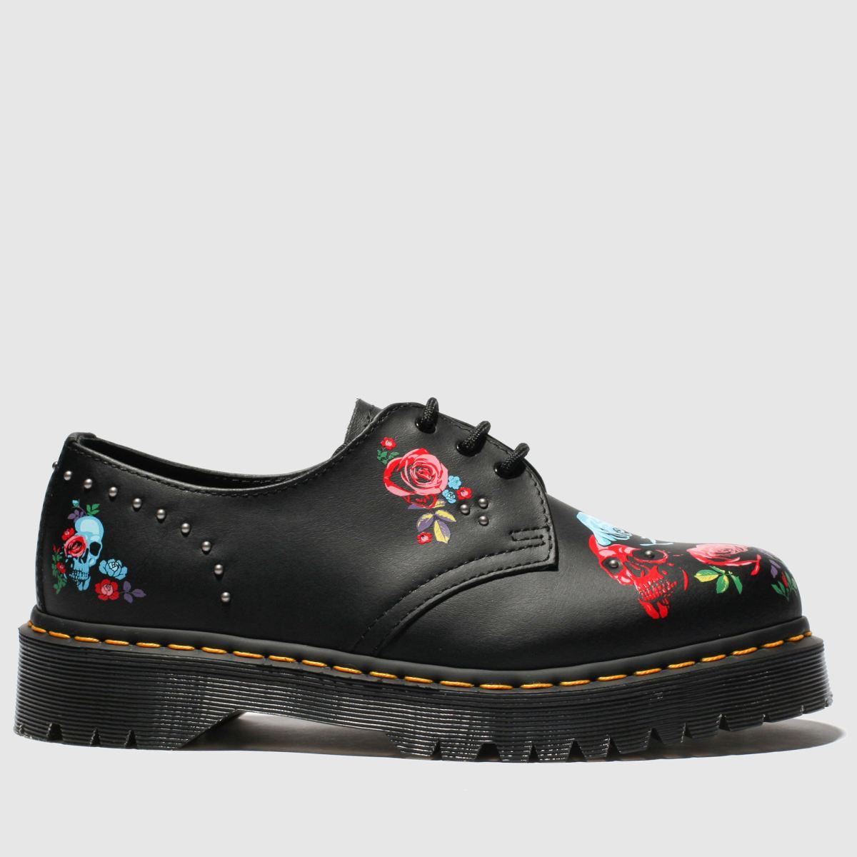 Dr Martens Black & Pink 1461 Bex Rose Boots