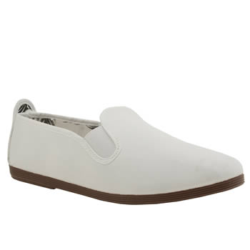 Flossy White Plimsoll Flats
