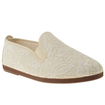 womens flossy stone plimsoll flat shoes