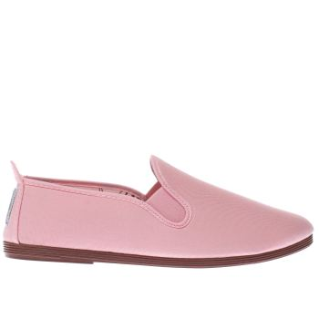 FLOSSY PALE PINK PLIMSOLL FLAT SHOES