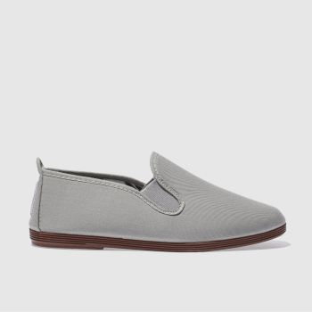 Flossy Grey Plimsoll Womens Flats