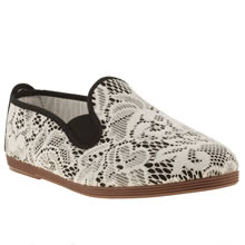 flossy floral lace plimsoll 1