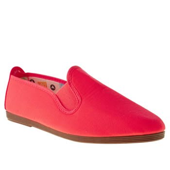 womens flossy pink plimsoll ii flat shoes