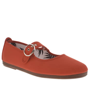 Flossy Red Tolosa Mary Jane Womens Flats