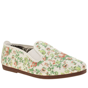 Flossy White & Pink Lledia Flats