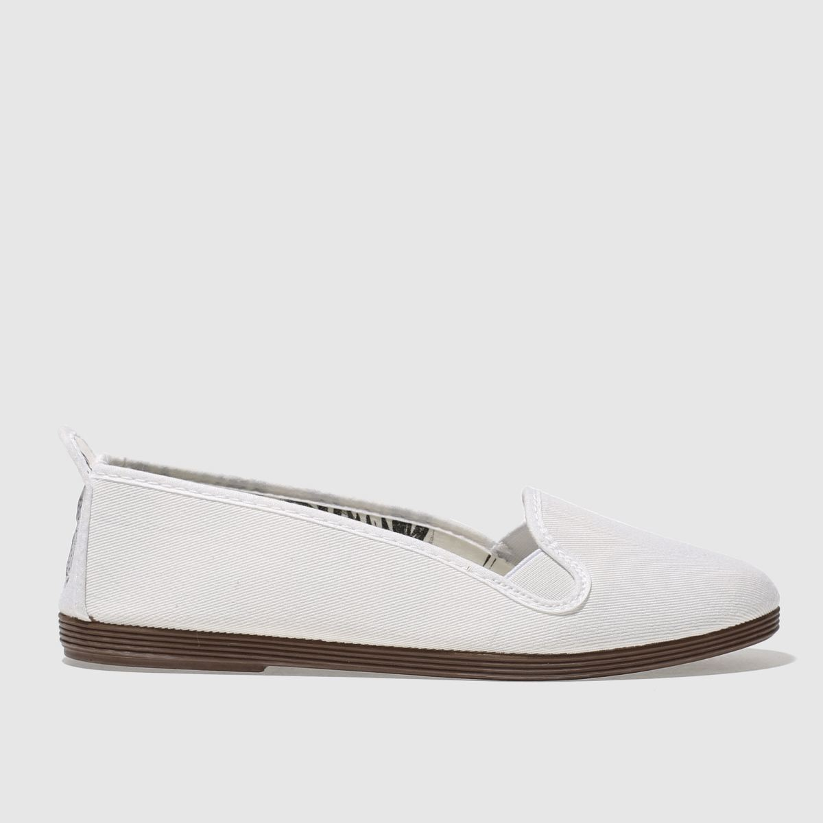 Flossy Flossy White Mijas Flat Shoes