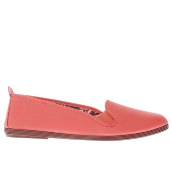 Flossy Orange Mijas Womens Flats