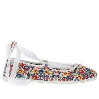 Flossy Multi Emma Floral Womens Flats