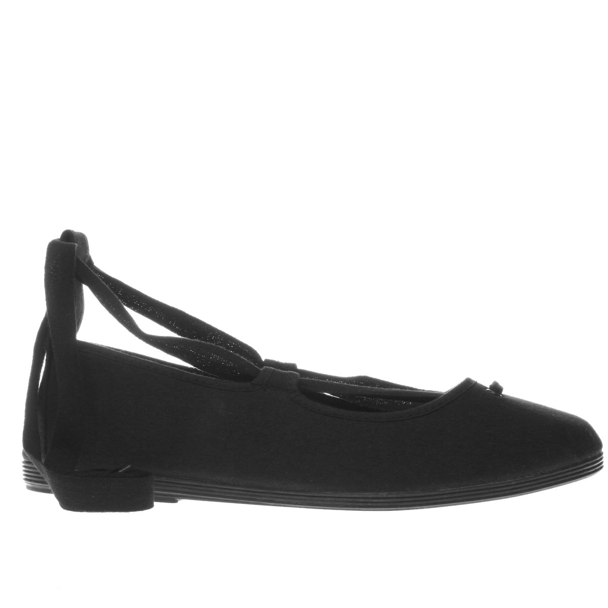 flossy black che flat shoes