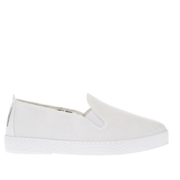 Flossy White Anabel Womens Flats