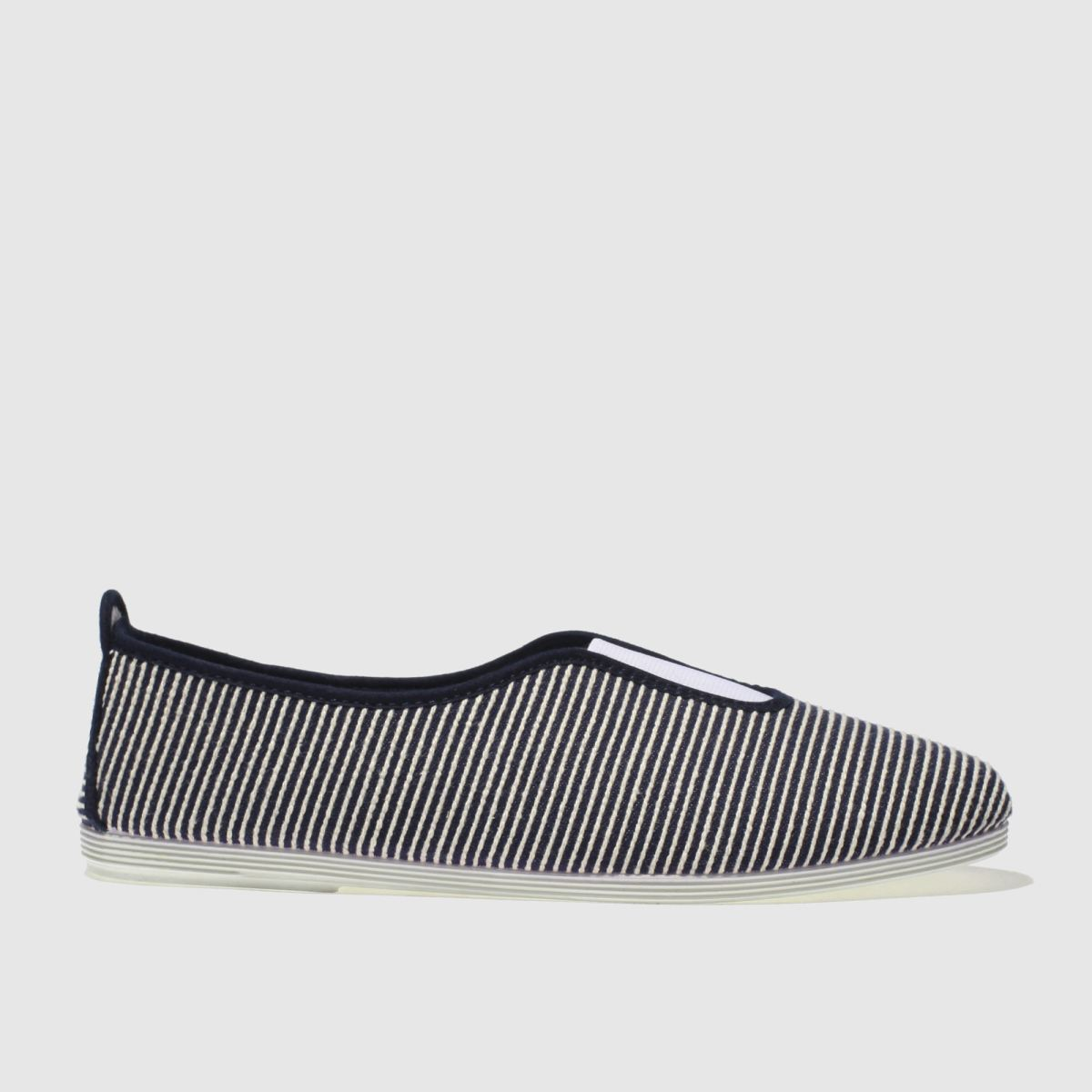 Flossy Flossy Navy & White Califa Flat Shoes