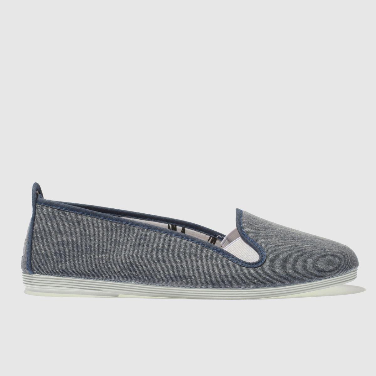 Flossy Flossy Blue Mijas Flat Shoes