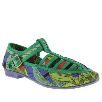 womens f troupe multi takako parrot flat shoes