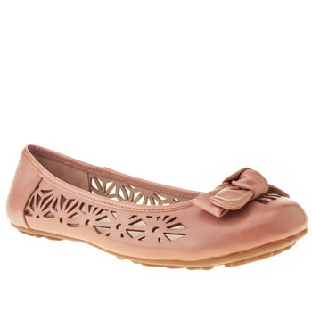 womens hush puppies pale pink lena flat shoes