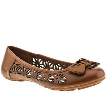 womens hush puppies tan lena flat shoes