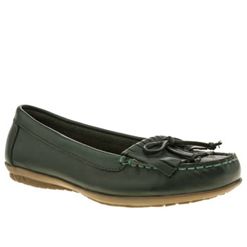 Hush Puppies Green Ceil Moccasin Fringe Flats