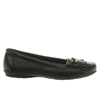 Womens Hush Puppies Black Ceil Mocc Fringe Flats