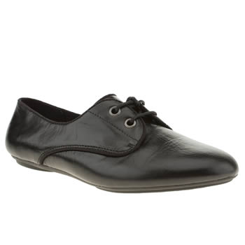 womens hush puppies black chaste oxford flat shoes