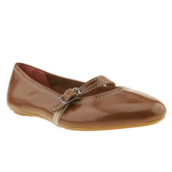 Womens Hush Puppies Tan Chaste Mary Jane Flats