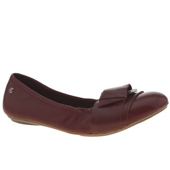 Hush Puppies Burgundy Finnley Chaste Flats