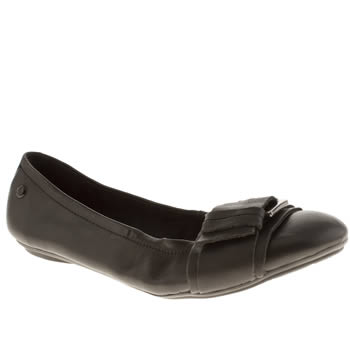 Womens Hush Puppies Black Finnley Chaste Flats