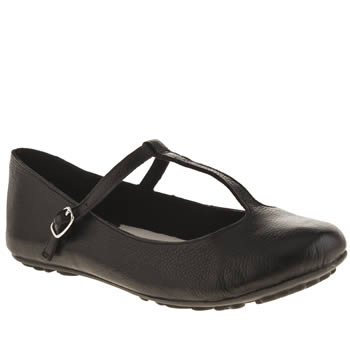 Womens Hush Puppies Black Janessa Tattoo T-bar Flats