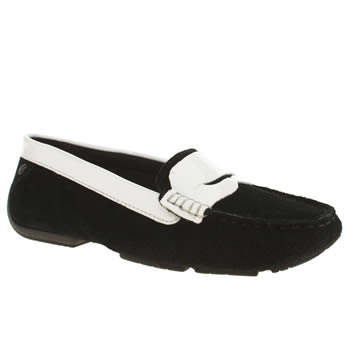 Hush Puppies Black & White Georgia Cora Flats