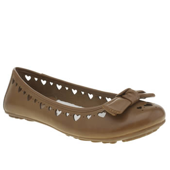 Womens Hush Puppies Tan Tattoo Heart Flats